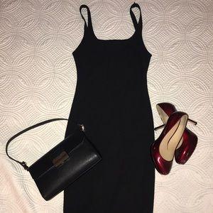Zara black strappy dress